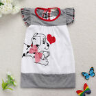 Baby Girl Toddler Summer Dresses Lovely Dog Bow Kid  Dress Braces Skirt 6M-3Y