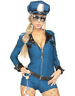 Miss Demeanor Sexy Police Girl Womens Cop Romper Halloween Costume Set XS-L