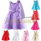 Girl Princess Party Flower Wedding Dress Bridesmaid Formal Prom Christening 1-9Y