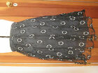 NOA NOA BLACK SILVER LACE MESH LINED SKIRT XS S L XL XXL NEW EMBROIDERED FLOWERS