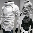 UK SALE&FAST Mens Slim Fit Coat Jacket Hoodie Hoodies Side Zip Hooded 2014 S~XL