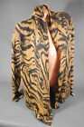 Neiman Marcus 100% Cashmere Animal Print Open Cardigan Sweater S M NWT