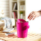 4 Colors Portable Tiny Wastebasket Rocking Cover Mini Trash Bin Snacks Waste Bin