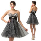 Formal Mini short Evening Ball Gown Party Prom Bridesmaid Dress Stock Size 6~16❤