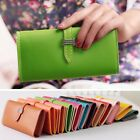 Fashion Womens Faux Leather Bifold Card Holder Clutch Bag Wallet Purse New Style