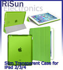 Ultra Slim Magnetic Smart transparent Green Case For iPad 2 3 4 screen protector
