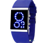 2014NEWFashion Sport Classical LED Silicone Colorful Mirror Face Watch Hot  Pink
