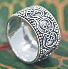 Sterling Silver .925 Handmade Bali Designed Unisex Band Ring Size 6, 7, 8, 9