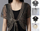 UK Lace Mesh Gauze Bolero Shrug Waistcoat Cardigan Jacket Top Shawl Wrap Wedding
