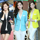 New Autumn Korean Women Lady Small Suit Jacket V-neck Slim Casual Stitching Coat