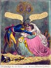 6634.The first kiss this yen years.Man kisses obese woman..POSTER.art wall decor