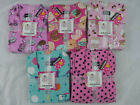 Womens Joe Boxer Pajamas Flannel 2 Pc Coffee Donuts Cocktails Polka Dots New