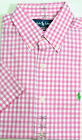 Ralph Lauren Polo Pony Classic Fit Plaid Gingham Button Dress Shirt S M L XL XXL