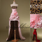 Pink Red Leopard Cocktail Short Dresses 2014 Women Sexy Prom Party Gowns Dress