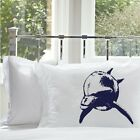 New One Navy Blue Bottlenose Dolphin Nautical Pillowcase pillow cover case