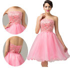 Sweetheart Sexy Strapless Sequins Short Cocktail Dress Evening Prom Bridesmaid v