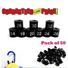BRAND NEW GARMENT CLOTHES MARKER SIZE ROUND PACK OF 50 EACH AVAILABLE ALL SIZE