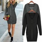 New Sexy Women Lady V-Neck Long Sleeve Mini Dress Bodycon Cocktail Party Evening