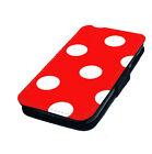 Polka Dot Style Design 5 Printed Faux Leather Flip Phone Cover Case