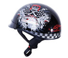 NEW ED HARDY SHORTY ( 1/2 HELMET ) LIVE TO RIDE BLACK MOTORCYCLE /SCOOTER HELMET