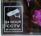 24 Hour /  Warning CCTV In Operation -Premises Security Window Stickers Signs