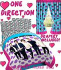 Teen Girls ONE DIRECTION 1-D BAND Polka-Dots Twin/Full Size Comforter Set+DRAPES <br/> **GREAT GIFT!!