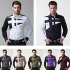 New Mens Luxury Casual Slim Fit Stylish Long Sleeve Dress Shirts Tops Formal HOT
