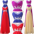 *NEW* Strapless Wedding Bridesmaid Ball Party Evening Prom Dress Long Maxi Gowns