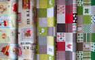Designer Fabric - Quality Upholstery, Curtain Cotton Fabric, Animals, Kitchen
