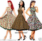 British Retro Vintage 1950s Dress *Vintage 50s Rockabilly Party Pin-Up wedding*