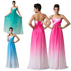 FREE SHIP  Long Maxi Formal Bridesmaid Party Evening Prom Homecoming Gown Dress