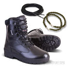 ARMY FULL LEATHER COMBAT PATROL BOOT BLACK CADET NEW WITH LACES TWISTS