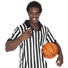 Men's Official Black and White Stripe Referee/Umpire Jersey, 100% polyester