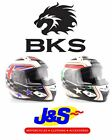BKS SERIES 8 FLAG MOTORCYCLE HELMET MOTORBIKE RACE RACING CRASH LID J&S