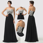 Long Strapless Bridesmaid Prom Evening Formal Dress Wedding Party Ballgown Black