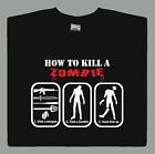 How to Kill a Zombie T shirt Funny Undead Zombies Slogan Comedy gift S- XXL