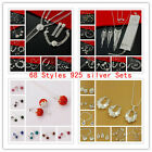60 set New Fashion Jewellery 925 Silver Bracelet Necklace ring earrings Gift box