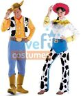 Couples Toy Story Woody and Jessie Adult Costume Disney Movie Party Halloween