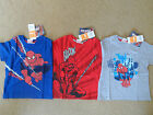 BOYS MARVEL SPIDERMAN CREW NECK COTTON T-SHIRT 3 COLOURS AGE  8 years old