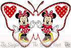 25 x Disney MINNIE MOUSE Red Dot Butterflies Edible Decorations Cup Cake Toppers