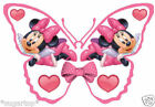 25 x Disney MINNIE MOUSE Butterflies Edible Decorations Cup Cake Toppers