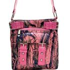 Camouflage Faux Patent Leather Buckle Messenger Bag Crossbody Bag with Crocodile