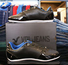 BRAND NEW MENS VOI JEANS MURANO BLACK PATENT ANIMAL SHINY TRAINERS FOOTWEAR