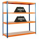 Heavy Duty Steel Warehouse Shelving Industrial Racking 6 Sizes 300kg UDL Speedy