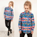 BRAND NEW WOMENS PANHANDLE SLIM HORSE AZTEC PATTERNED SOUTH WESTERN RODEO SHIRT