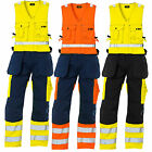 Blaklader Hi Vis Sleeveless Work Overalls with Knee Pad & Nail Pockets - 2653