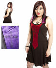 Jordash Dark Star Black Gothic Cross Red Or Purple Front Gothic Short Dress