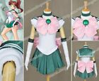 Sailor Moon Cosplay Sailor Jupiter Makoto Kino Costume Halloween Girls Dress New