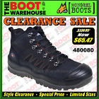 Mongrel Work Boots 480080. Black Hiker Boot, Steel Safety Toe Cap. UPDATED STYLE