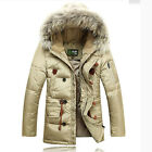 NEW outdoor SKI 90% duck down jacket trench Outwear Real fur hooded thicken coat